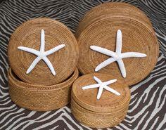 Set of Three Starfish Boxes##