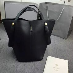 ... promo code for 2016 spring mulberry kite tote bag in black flat calf leather  kite 201604 ... 65d323586533e