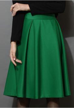 a-line green
