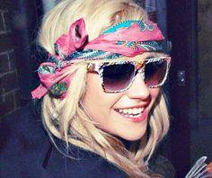 hippie chic head scarf