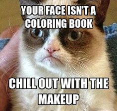 Chill with the face paint #GrumpyCat
