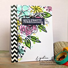 Using Essentials By Ellen Bohemian Garden and Paper Smooches stamps.