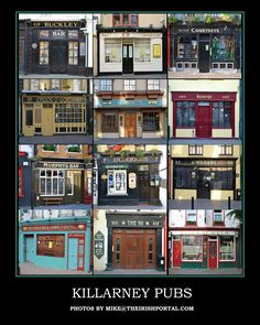 Killarney Pubs Poster - Click image above to purchase poster. $20