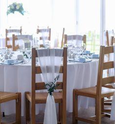 Barn Wedding Venue, Wedding Table, Rustic Wedding, Wedding Reception, Oak Chairs, Chair Sashes, Round Tables, London Wedding, Outdoor Ceremony