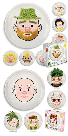 Mr & Ms Food Face  -- awesome for a picky toddler