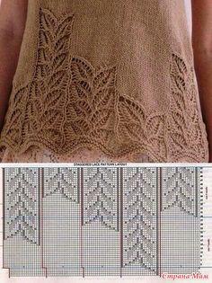 2019 Modell Pink Pistachio Flowers Women Vest and Baby Knitting Pattern Baby Knitting Patterns, Knitting Charts, Lace Patterns, Knitting Stitches, Knitting Designs, Stitch Patterns, Crochet Patterns, Knitting Looms, Crochet Edgings