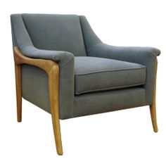 The Merritt Chair in Montecito Steel from True by HW Home