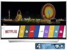 """Smart TV LED Curva 4k Ultra HD 3D 65"""" LG 65UG8700 - Conversor Integrado 4 HDMI 3 USB Wi-Fi 4 Óculos"""