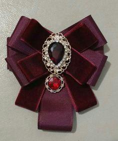 Diy Hair Accessories, Handmade Accessories, Women Accessories, Handmade Jewelry, Ribbon Jewelry, Fabric Jewelry, Ribbon Crafts, Ribbon Bows, Garnet Wedding