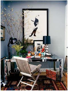 A cozy, inspiring home office...We'd get so much accomplished here!