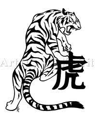 Tiger and Kanji