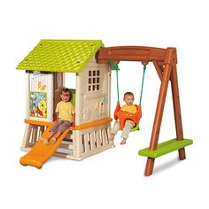 Smoby Winnie the Pooh Playhouse and Swing