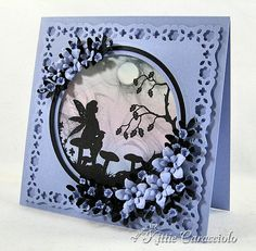 Fairy Silhouette by kittie747 - Cards and Paper Crafts at Splitcoaststampers