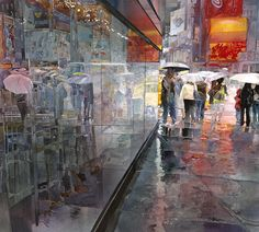 """Rainy Day, Times Square"" John T. Salminen"