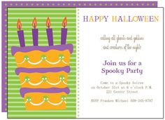 Free Blank DoItYourself Halloween Party Invitation Postcard