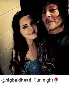 Lana Del Rey and Norman Reedus  (@ bigbaldhead online) backstage after the show in Georgia #LDR #Endless_Summer_Tour