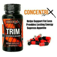"""""""CONCENTRIX TRIM for Ladies"""" Helps Support Fat Loss Provides Energy Supress Appetite - NO SHAKESNO JITTERS - INGREDIENTS: Caffeine - is a psychological stimulant. It is the world's most widely consumed psychoactive drug but unlike many other psychoactive substances it is legal and unregulated in nearly all parts of the world. .... Hoodia - is a cactus-type plant from the Kalahari desert in Africa. People use hoodia to curb their appetite so they are able to lose weight. ... Green tea extract…"""