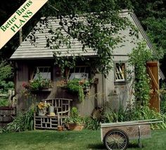 PrivateMosaicGarden: garden shed