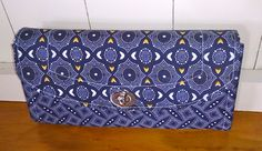 Necessary Clutch wallet - handmade in Indigo Shwe Shwe fabric by TheHandMaidensCloset on Etsy