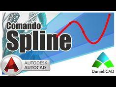AutoCAD 2015 | Comando Spline - YouTube