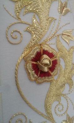 Zardosi Embroidery, Tambour Embroidery, Couture Embroidery, Silk Ribbon Embroidery, Embroidery Fashion, Hand Embroidery Designs, Beaded Embroidery, Embroidery Suits, Embroidery Stitches