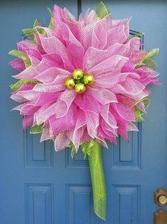 Guirnalda de la flor, guirnalda de primavera, deco malla flor, guirnalda durante todo el año                                                                                                                                                     Más