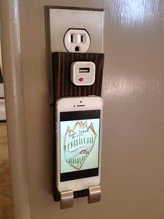 iPhone 4 or 5 charger wall outlet cradle