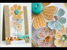 Mixing Up Your Stamps - YouTube White Embossed Flowers on DSP