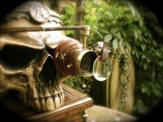cool idea for some steam punk halloween decor.