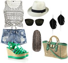 That pop of green, created by csimbulan on Polyvore