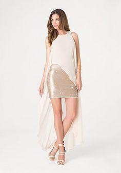 bach? bebe Chiffon Overlay Dress