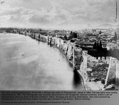 Sea wall of Thessaloniki by Abdullah Freres From a photo album owned the Festetics family Old Pictures, Old Photos, Old Greek, Thessaloniki, Macedonia, Ancient Egypt, Old Town, Athens, City Photo