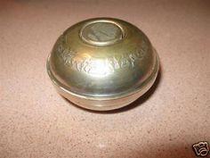 Vintage 50's 60's Israel Jewish Shabbat Judaica Metal Travel Candle Holder Box