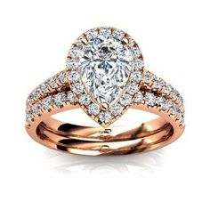 Rose Gold Engagement Rings Circle Cut 17