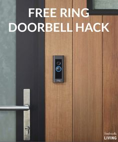 People are Freaking Out Over This Free Ring Doorbell Hack Tall Cabinet Storage, Locker Storage, Doorbells, Welcome To My House, Smart Home Security, Ring Doorbell, Free Ring, Home Technology, Camera Hacks