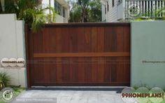 Ultra Modern and First Class Simple Main Gate Design Ideas & Create your Dream Home Gates with Latest Modern Wooden Classic Cute Low Cost Gates Collections