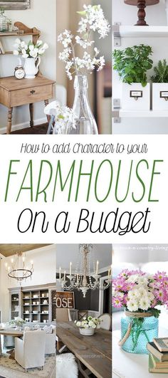 How to add Character to your Farmhouse on a Budget - The Cottage Market - Rustic Home Decor Diy Shabby Chic Bedrooms, Shabby Chic Homes, Shabby Chic Decor, Trendy Bedroom, Vintage Decor, Diy Home Decor On A Budget, Decorating On A Budget, Cheap Home Decor, Cottage Decorating