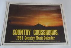 Country Crossroads 8 Vintage Country Calendars South Baptist Convention Safely Stored For Over 35 Years This Will be a great Gift for any Fan Shipping will be within 2 days of your payment All Sales are Guaranteed Satisfaction We a. Just Letting You Know, Saved Items, All Sale, Great Gifts, Calendar, Fans, Messages, Country, Vintage