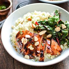 "Barbecue Chicken and Cauliflower ""Couscous"" Bowls"