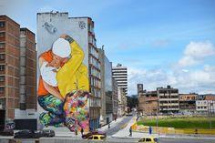 Streetart: JADE x Vertigo Graffiti x MDCREW New Mural in Bogota // Colombia