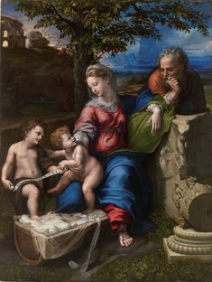 The Holy Family with an Oak Tree / Sagrada Familia del roble // 1518 - 1520 // Giulio Romano & Raphael // Museo del Prado