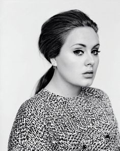 """fuckyasadele: """"Making a record is like standing in the middle of Trafalgar Square naked, you let everyone see your good bits and bad bits. I don't know what possesses me to do that, but I'm not good at anything else. - Adele """""""