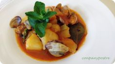 Con pan y postre: Guiso de patatas y almejas / Stew of potatoes and ...
