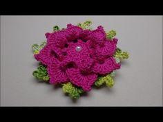 Flor de Crochê Para Aplicação em Tapetes e Diversos Trabalhos #03 - YouTube