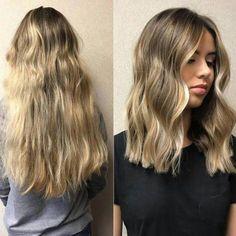 Haircuts For Fine Hair, Haircut For Thick Hair, Long Hair Cuts, Long Lob Haircut, Hair Cuts Thick Hair, Thick Wavy Haircuts, Long To Medium Haircuts, Cute Hair Cuts Short, Thick Hair Hairstyles Medium