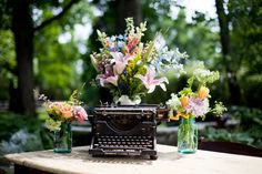 Romantic Rainbow ::  floral tablescapes