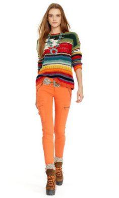 Hand-Knit Serape Pullover - Polo Ralph Lauren Crewnecks & Tanks - RalphLauren.com