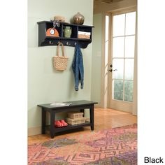 Fair Haven Storage Coat Hook and Bench with Shelf Set | Overstock™ Shopping - Great Deals on Alaterre Media/Bookshelves
