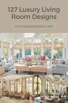 See 127 Gorgeous Luxury Living Room Design Ideas (photos) #luxurylivingroom  #luxurydesign #