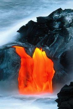 Lava expands the Big Island